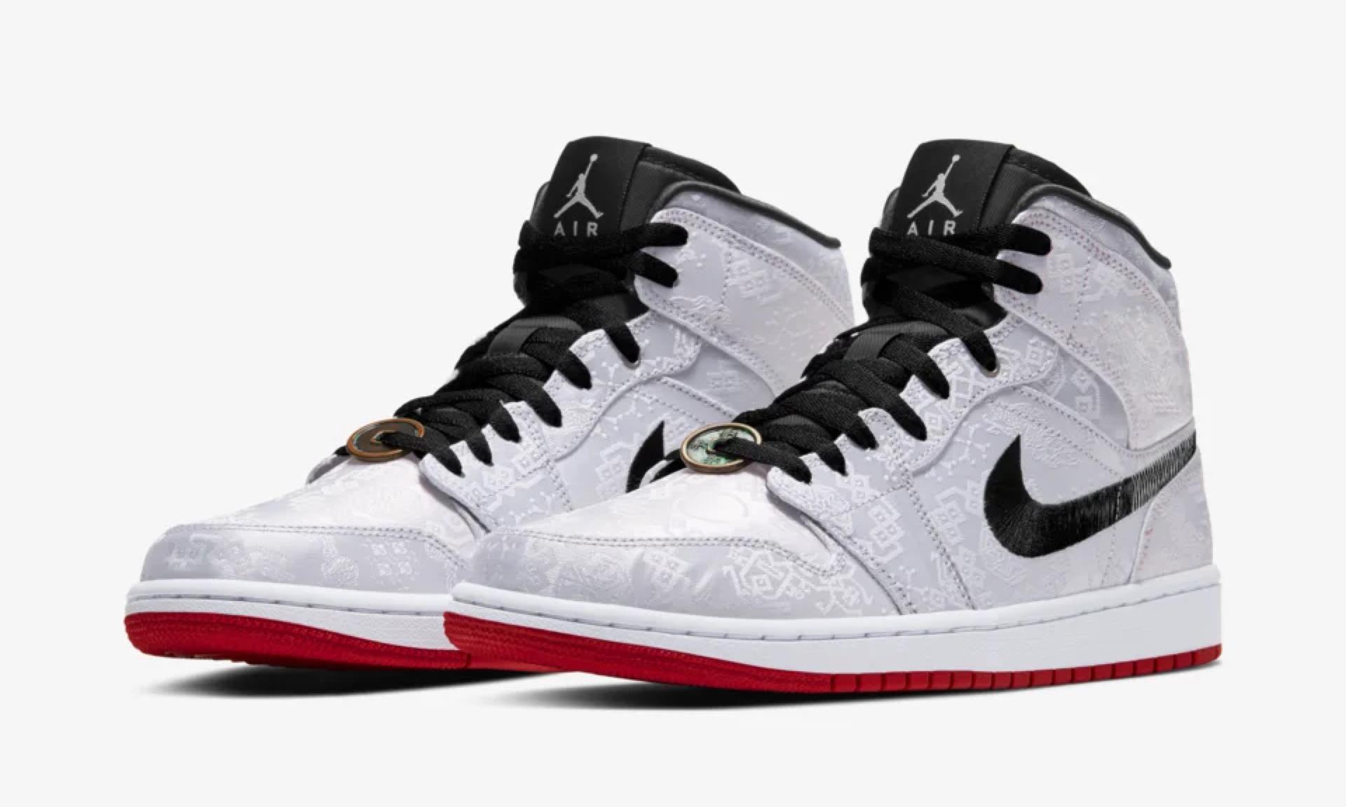 下月目标锁定,CLOT x Air Jordan I Mid Fearless 上架 SNKRS