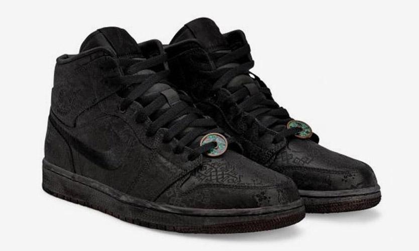 DSM 伦敦 15 周年献礼,CLOT x Air Jordan I Mid「黑丝绸」惊喜发布