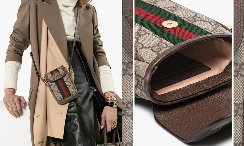售价 790 美元,Gucci 推出 Monogram 经典图案款手机包
