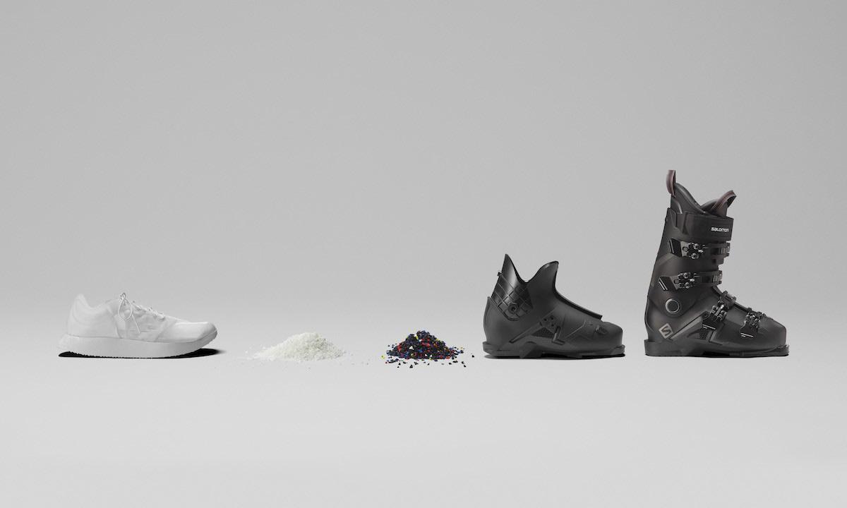 Salomon 推出可回收概念鞋款,穿废后制成滑雪靴外壳