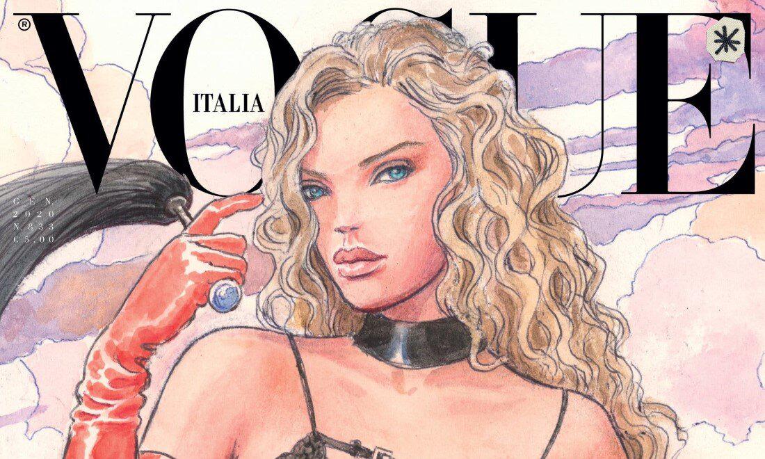 《VOGUE Italia》2020 年 1 月号成历史上第一期全插画杂志