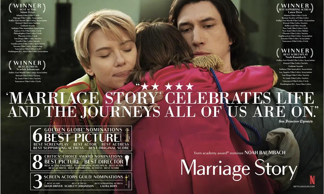 《婚姻故事》领衔,2 月 4 部好莱坞佳作定档内地