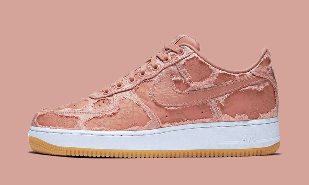 破坏后的 CLOT x Nike Air Force 1「Rose Gold Silk」长这样