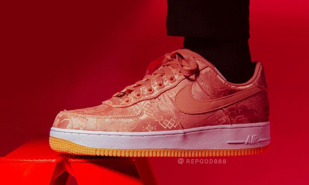 CLOT x Nike Air Force 1「粉丝绸」实物近赏
