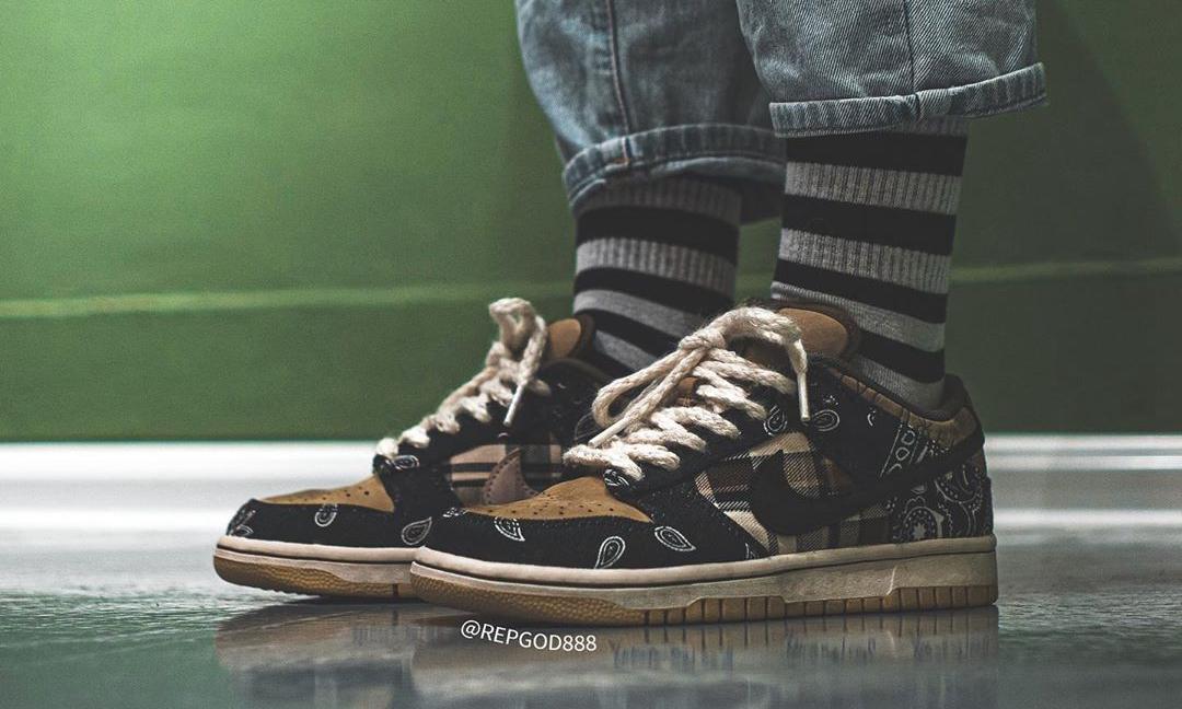 Travis Scott x Nike SB Dunk Low 实物近赏