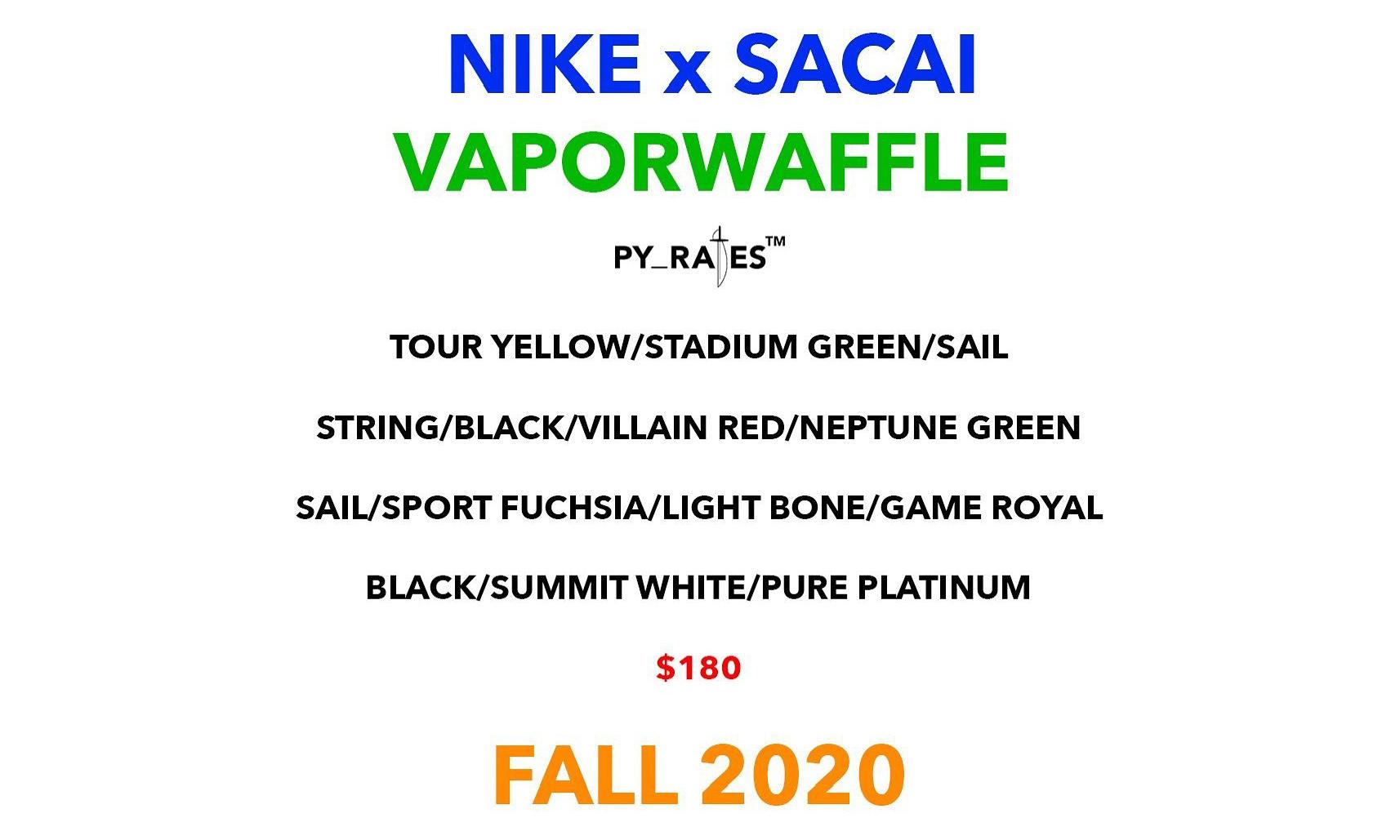 sacai 与 Nike 将推出一双名为「Vaporwaffle」的新鞋款