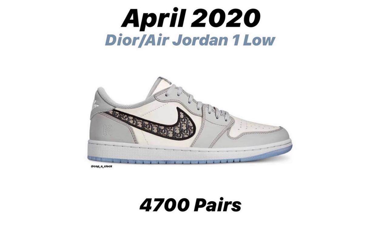 Dior x Air Jordan I Low 货量曝光
