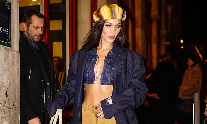 Bella Hadid 亲身示范,Jean Paul Gaultier 古着在市场中需求飙升