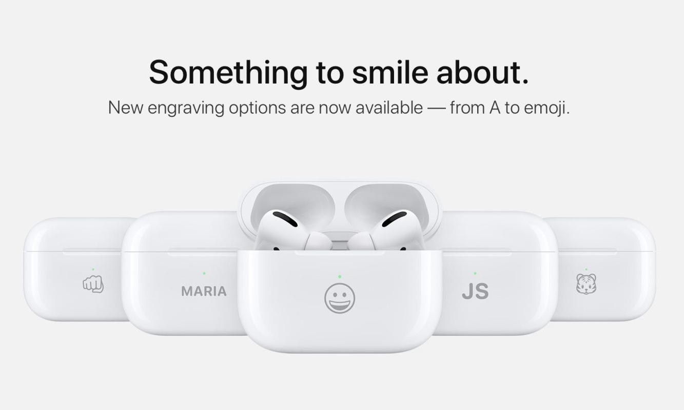 苹果官网推出 AirPods 个性化 emoji 表情定制服务