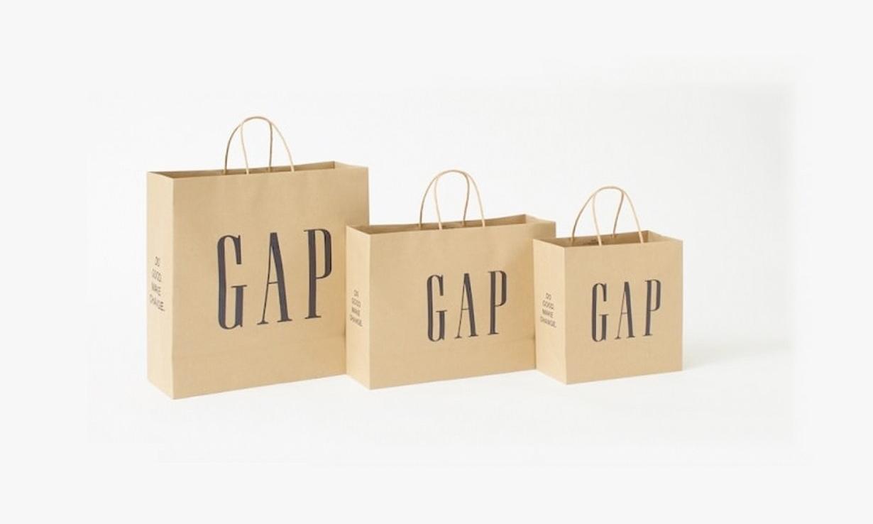 落实最基本的一步,Gap 将全面停止使用塑料购物袋