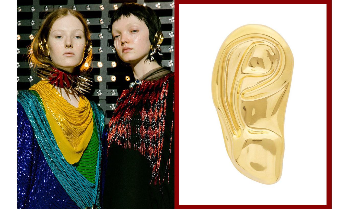 浮夸又有趣,GUCCI 新款金属耳朵耳环发售