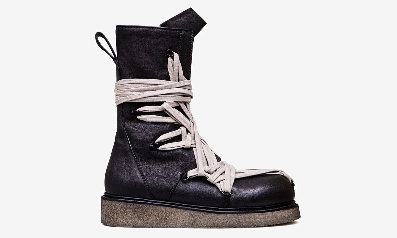 Rick Owens 发布售价 1,890 美元的秀款军靴