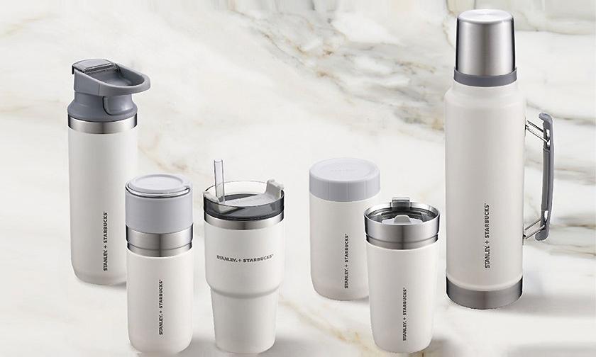 「奶油白」配色,Starbucks x Stanley 联名随身杯系列发售