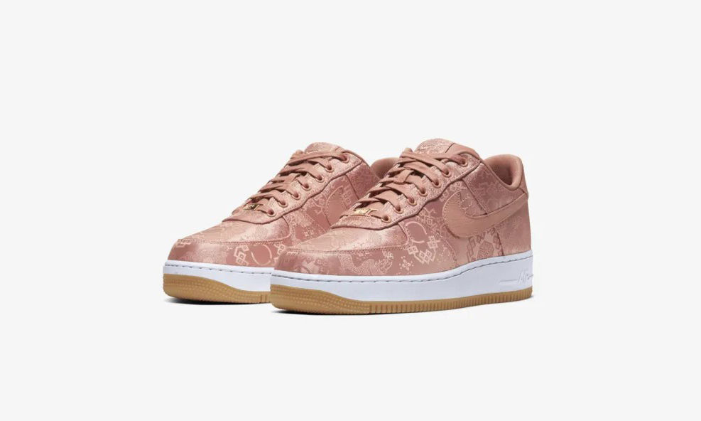 CLOT x Nike Air Force 1「Rose Gold Silk」再度上架 Nike SNKRS 发售