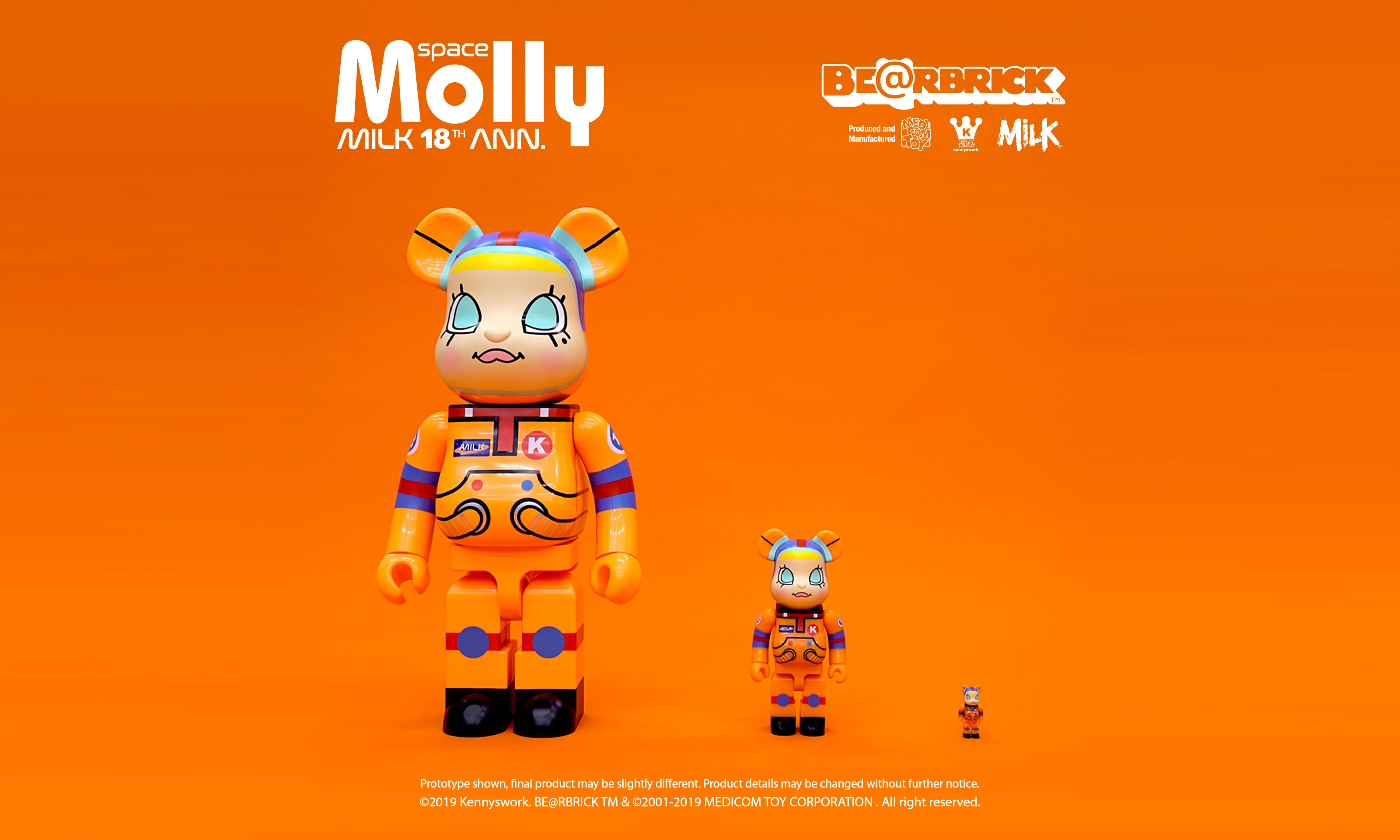 创刊 18 周年,《MILK》携手 Kenny Wong 打造 1000% Molly BE@RBRICK