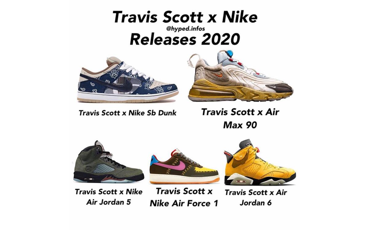 盘点 Travis Scott x Jordan Brand & Nike 2020 发售企划