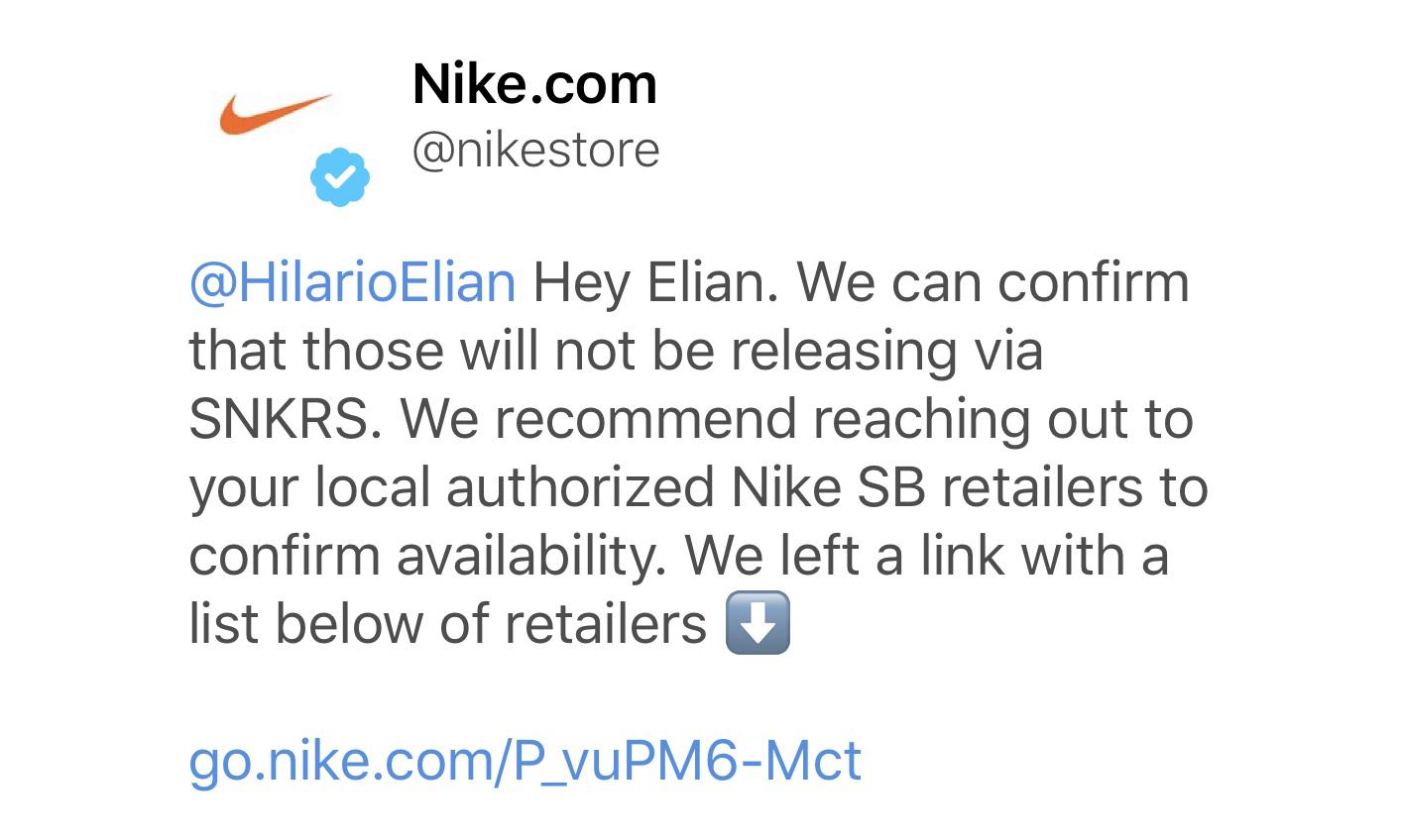 官方确认,Travis Scott x Nike SB Dunk Low 将不会通过 SNKRS APP 发售