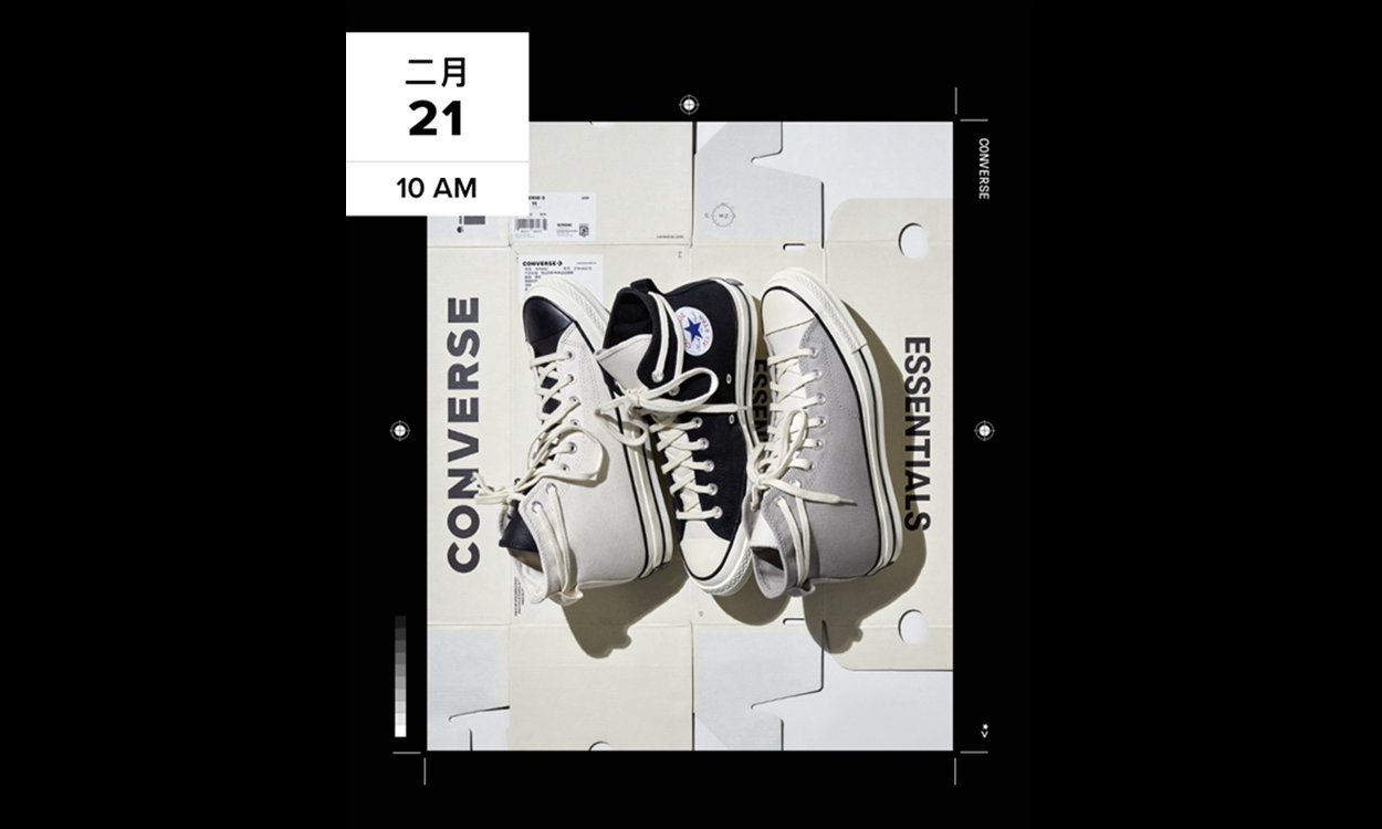 Fear Of God ESSENTIALS x CONVERSE Chuck 70 最新发售信息公开