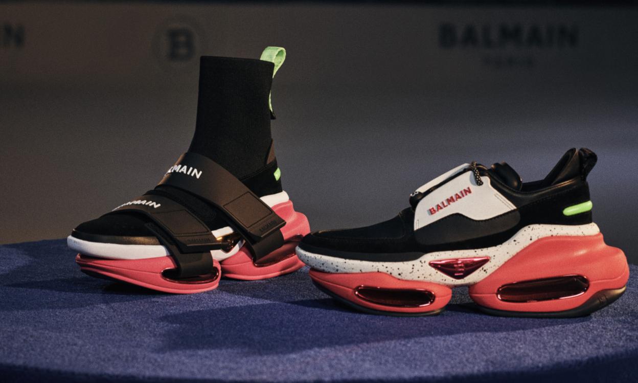未来感设计,Balmain BBOLD 球鞋系列发布