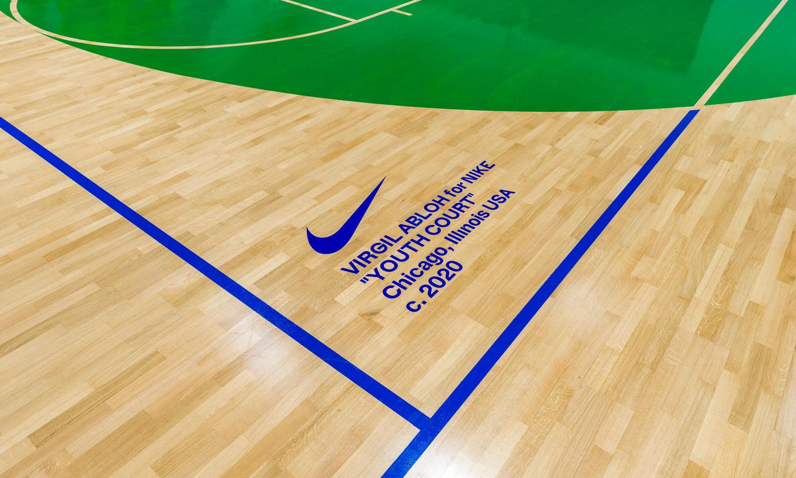 Nike 携手 Virgil Abloh 为芝加哥 Boys & Girls 俱乐部设计主题篮球场
