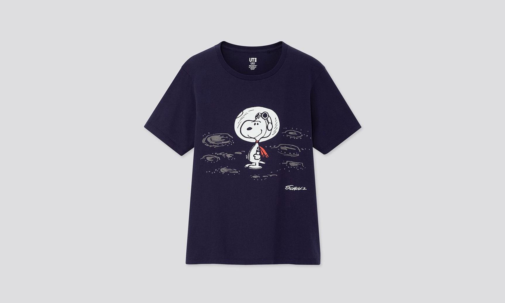 庆祝《PEANUTS》70 周年,UNIQLO 推出 Snoopy 联乘 T 恤系列