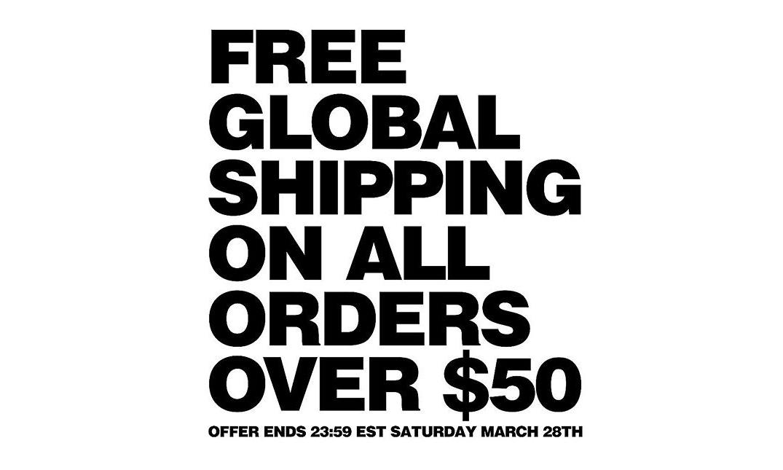 DSM 美国和伦敦店铺实行全球低门槛「免邮」政策