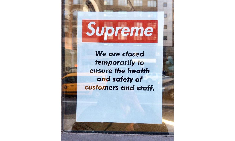Supreme 线下门店全部暂停营业