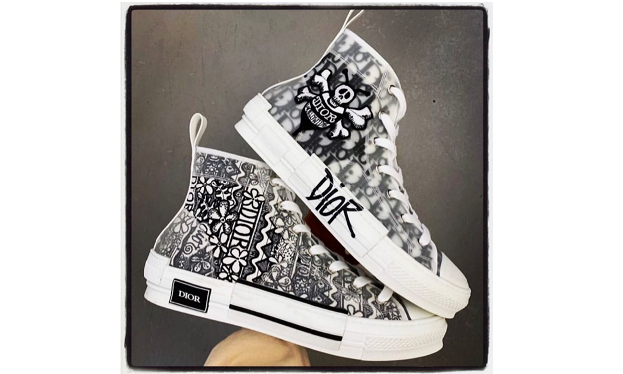 Shawn Stussy 亲晒 Dior x Stüssy 联名 B23 鞋款