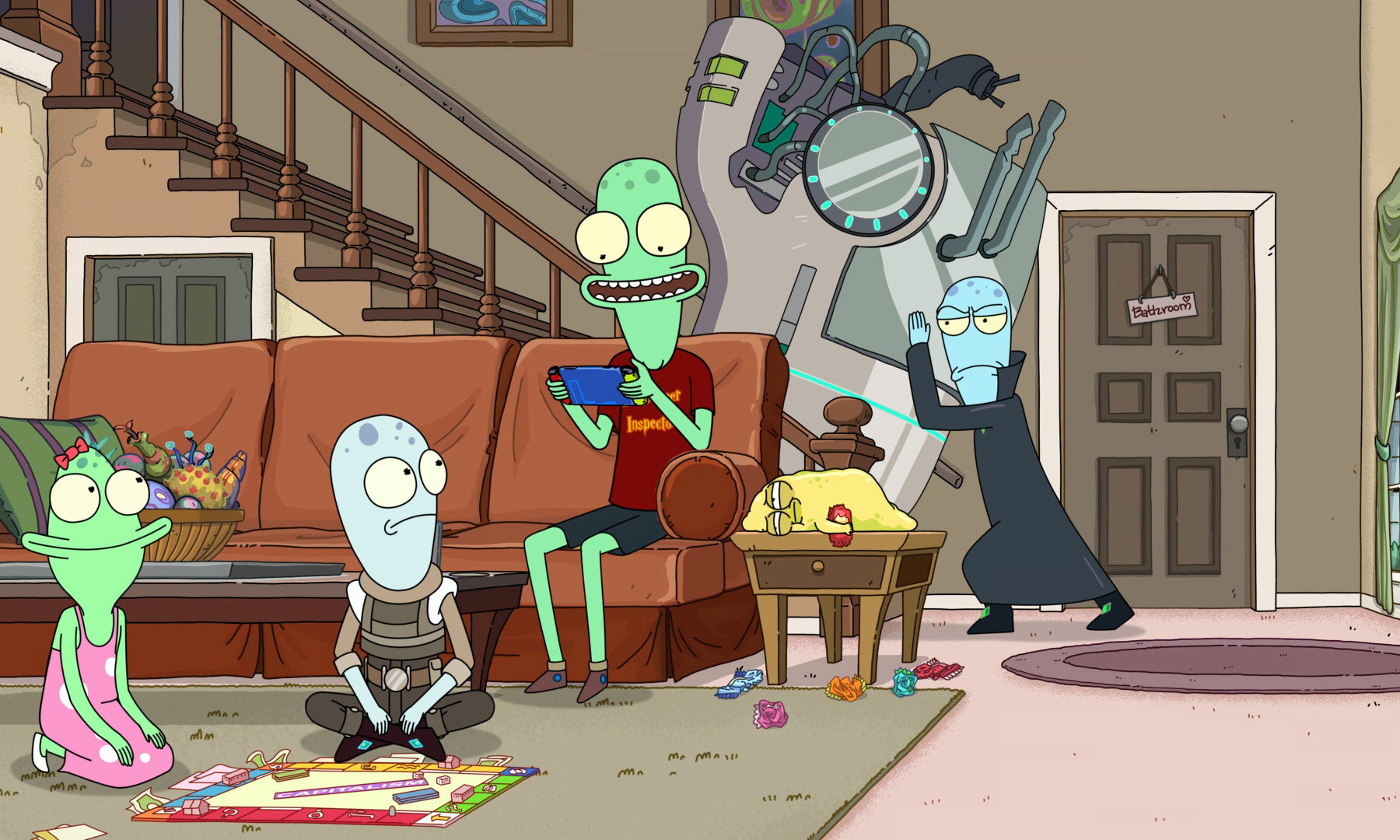 《瑞克和莫蒂》主创打造,全新动画片《外星也难民》曝光正式预告片