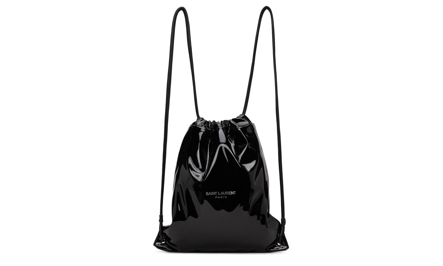 Saint Laurent 推出 Logo 款漆黑束口包袋