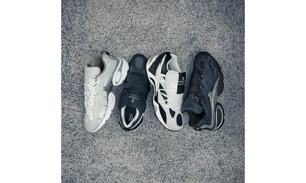 BAPE® BLACK x Reebok 两双联名鞋款登陆 DSMB 发售