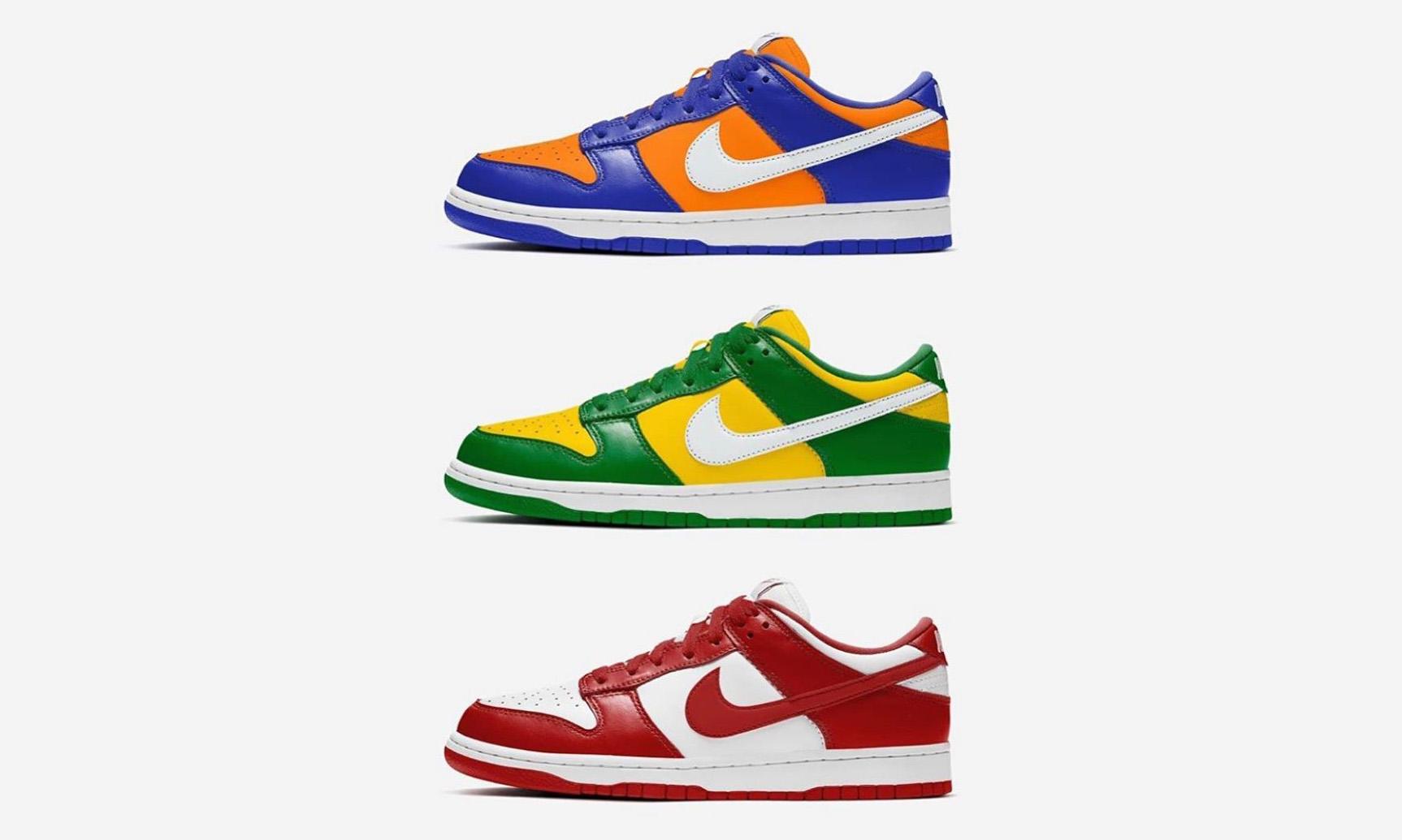 Nike SB Dunk Low 释出三款新配色