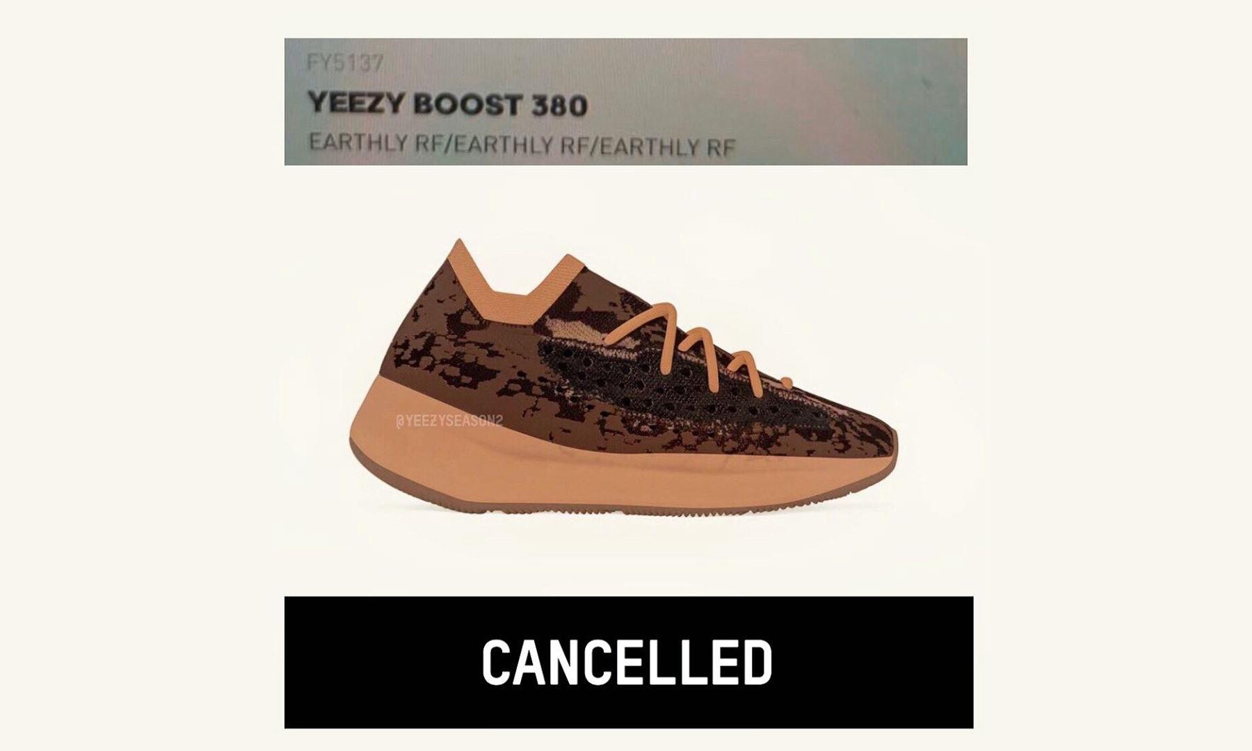 「跳票」预警,Yeezy Boost 380「Earthly」夏季发售取消