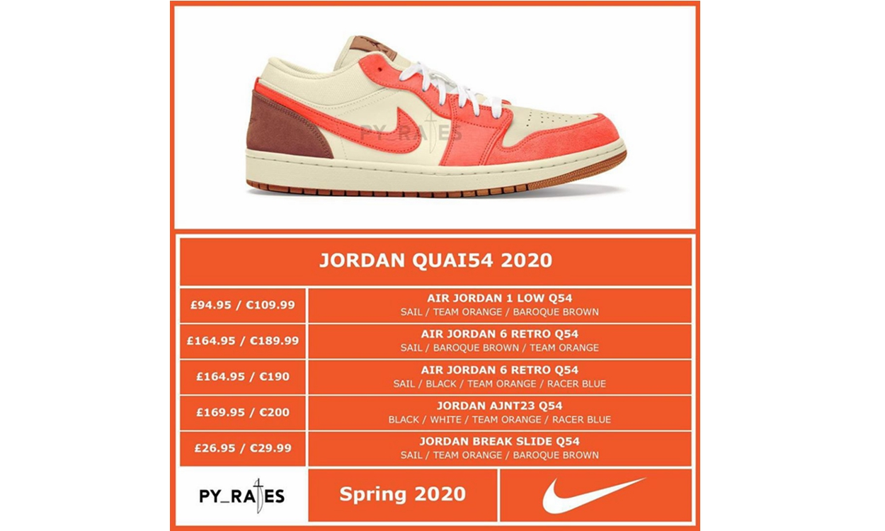 Jordan Brand x Quai 54 全新合作企划曝光