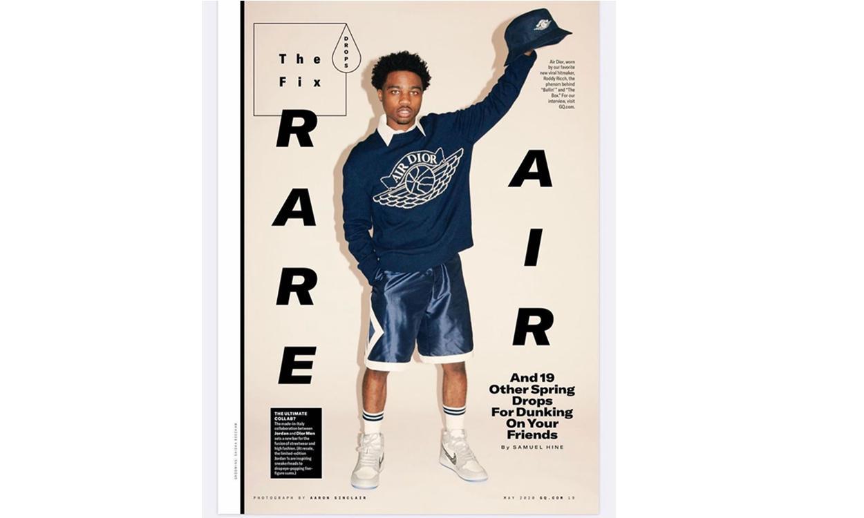 Roddy Ricch 亲身演绎 Dior x Jordan Brand 联乘系列