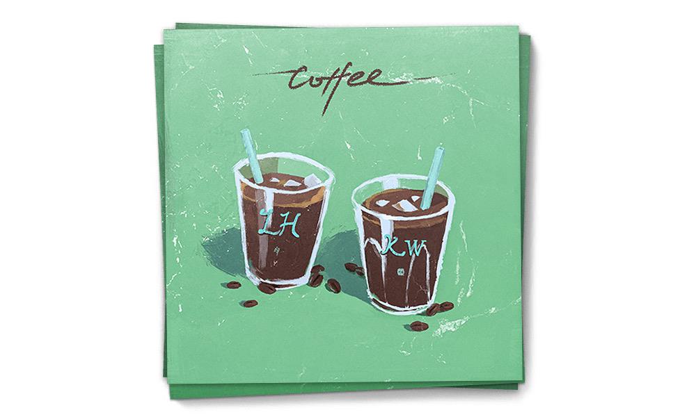 鹿晗 x 吴亦凡合作新单曲《咖啡》发布