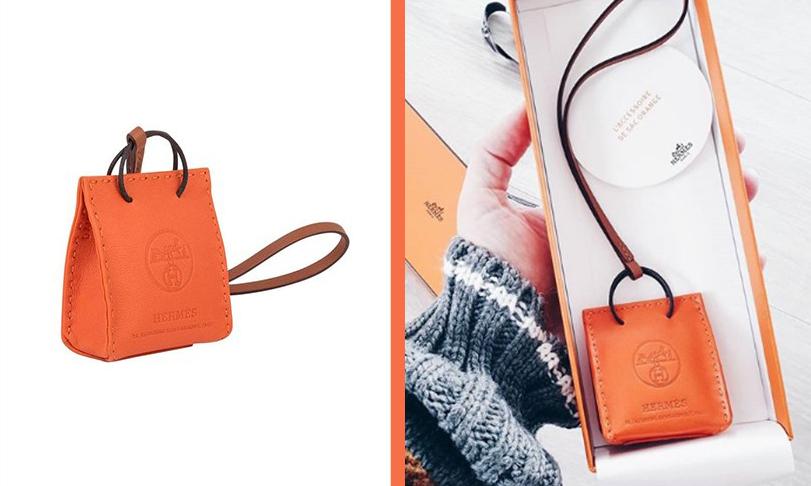 奢华入门款,Hermès 发售橙色迷你手袋