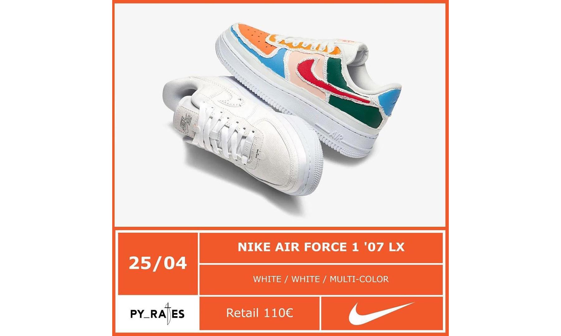 充满童趣的 Nike Air Force 1'07 LX「撕撕乐」配色将于本月发售