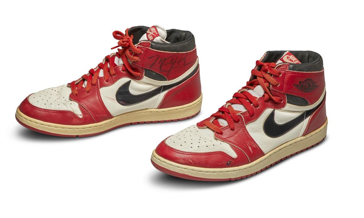 苏富比拍卖行公开竞标 1985 年 Michael Jordan 亲穿 Air Jordan I 球鞋