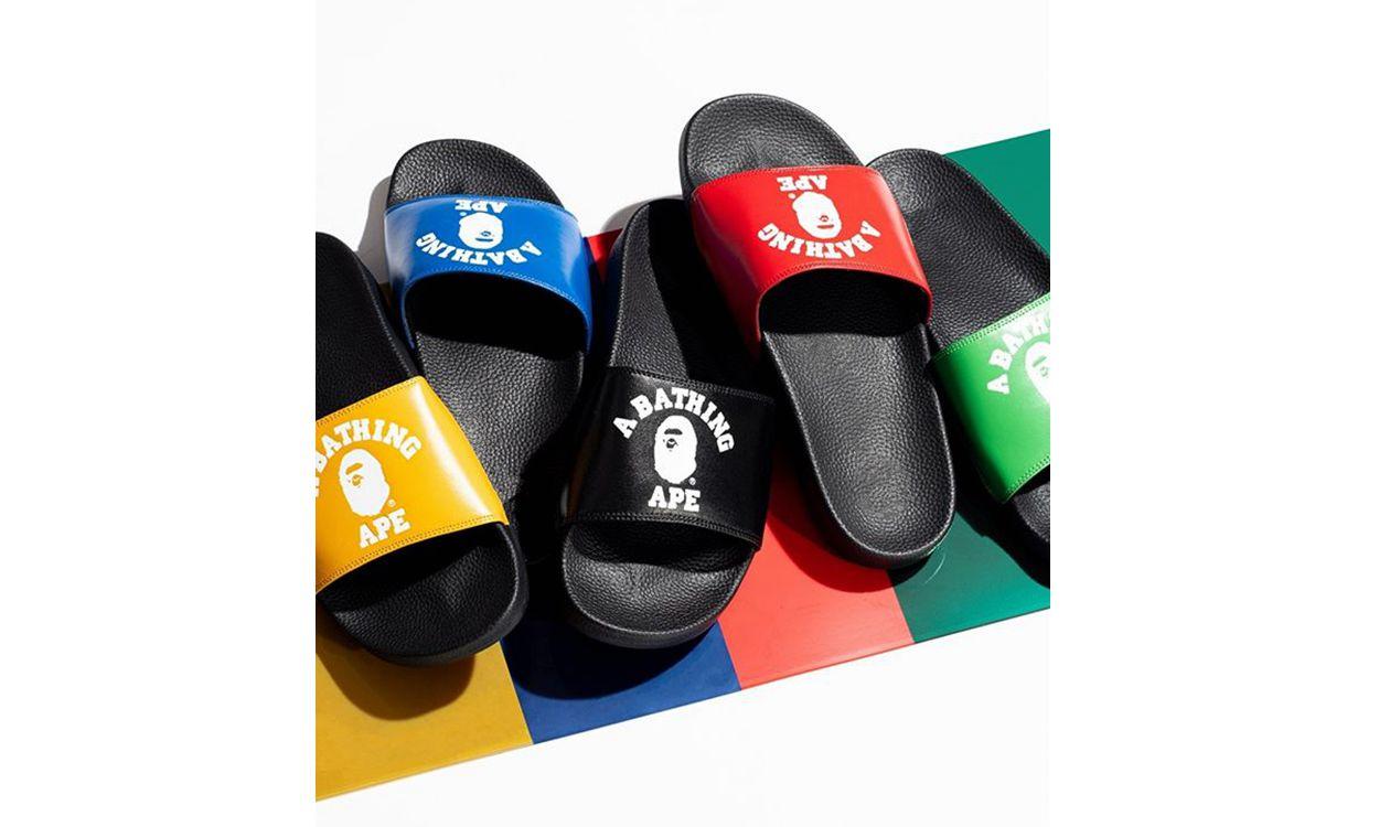 A BATHING APE® 将推出 College Slide Sandals 系列拖鞋