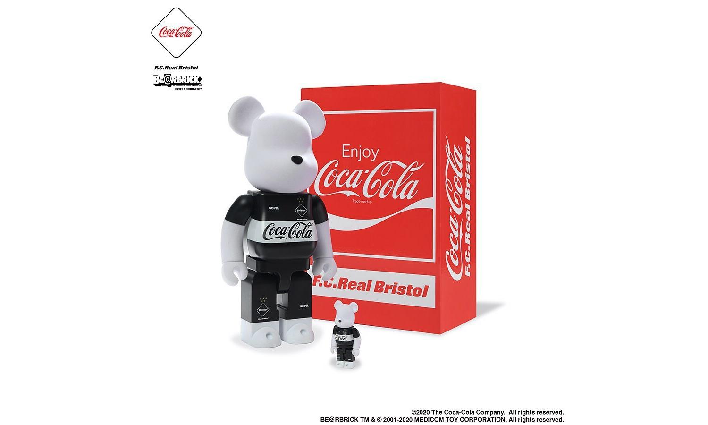 可口可乐 x F.C. Real Bristol x MEDICOM TOY 三方联名 BE@RBRICK 玩偶即将登场
