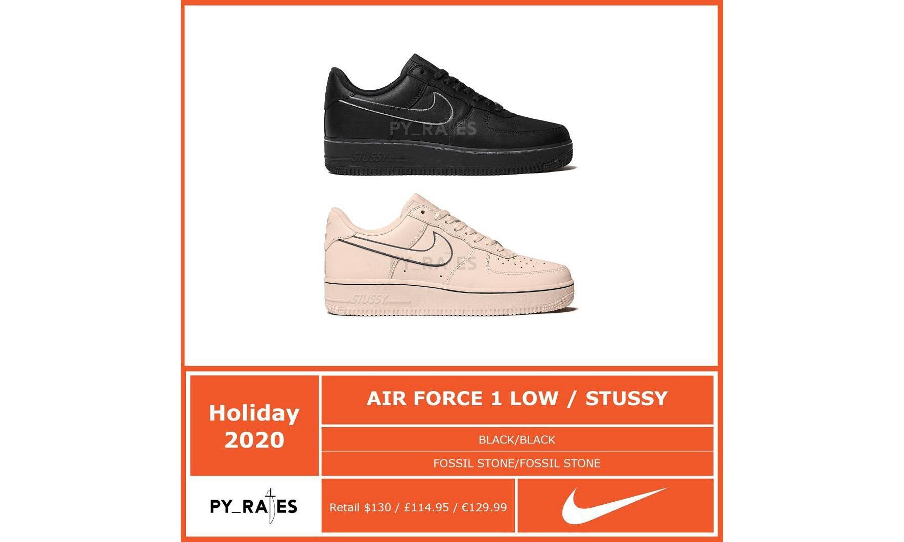 更有新联乘?Stüssy x Nike Air Force 1 疑似曝光
