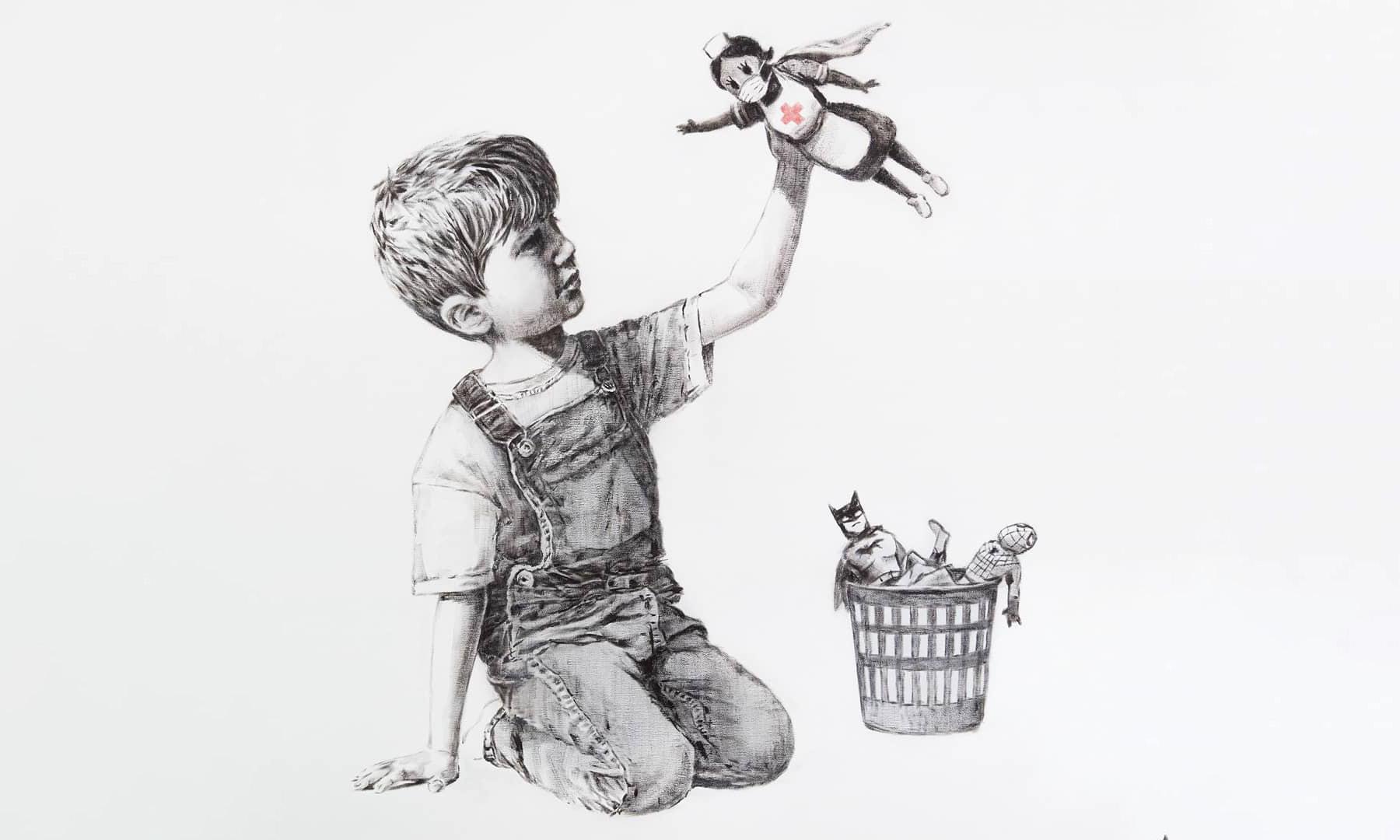 Banksy 新作品向医护人员致敬