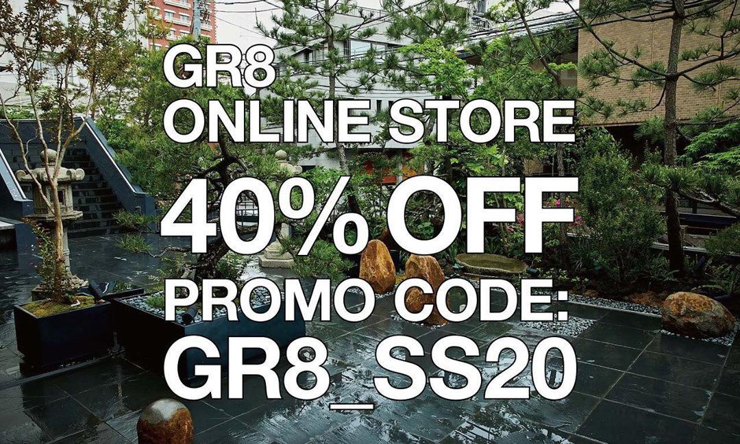 GR8 网店开始 2020 春夏系列 6 折活动