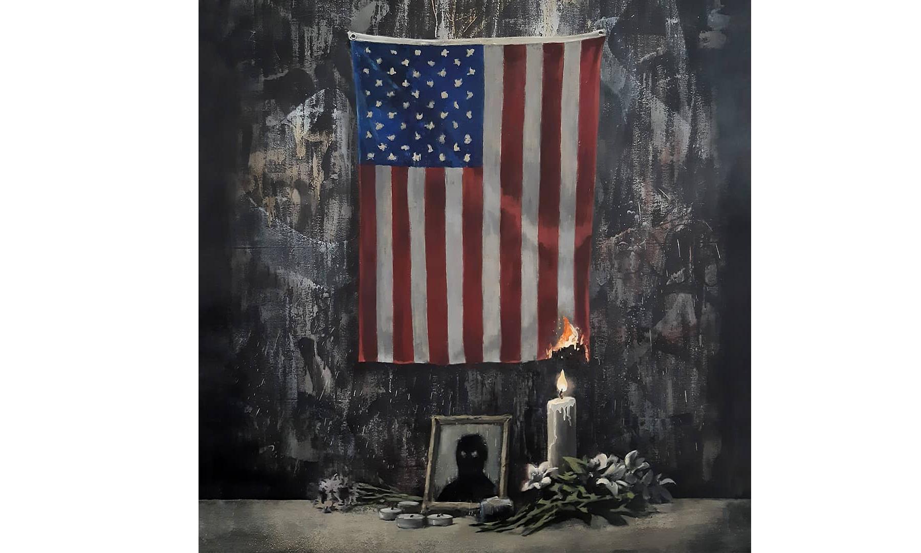 Banksy 就种族歧视事件发声,并带来最新作品