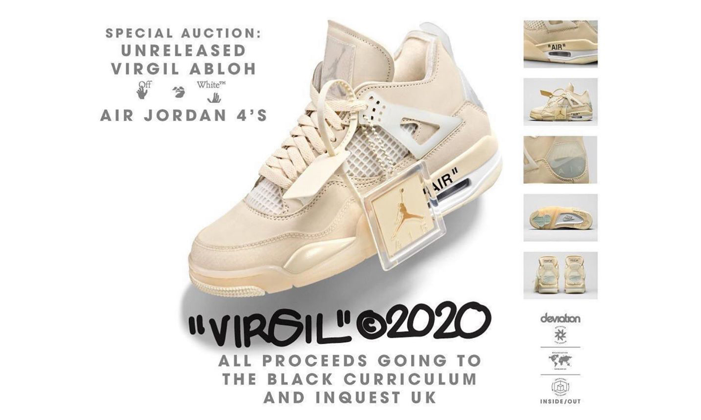 全部收益支持 BLM 运动,Virgil Abloh 拍卖 Off-White™ x Air Jordan IV 新配色
