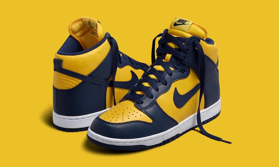 经典回归,Nike Dunk High「Michigan」将于 9 月复刻上架
