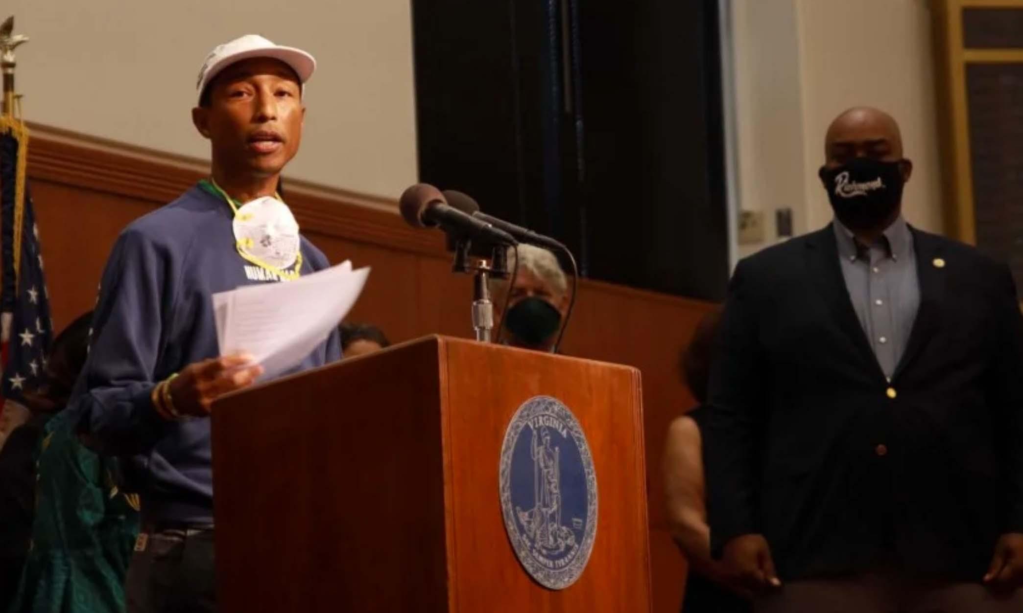 Pharrell Williams 为弗吉尼亚州争取了「Juneteenth」带薪休假日