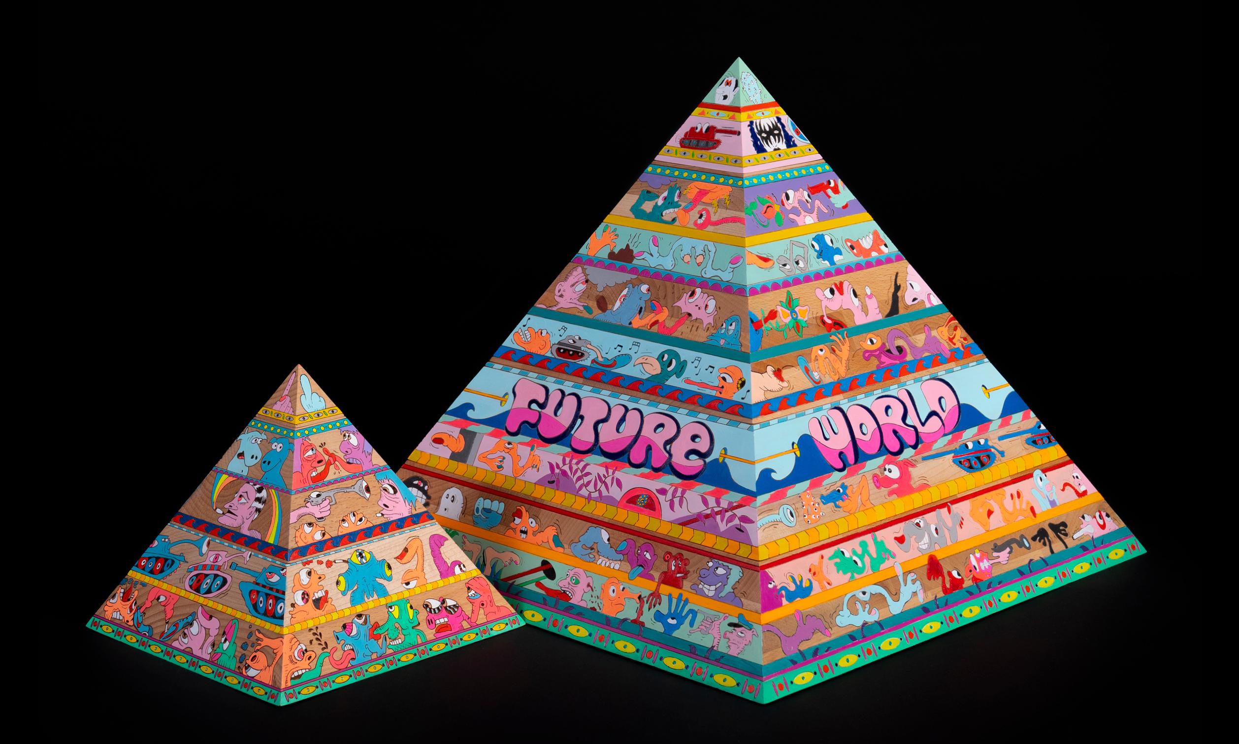Erik Parker 携手 AllRightsReserved 带来 FUTURE 原木金字塔雕塑及版画