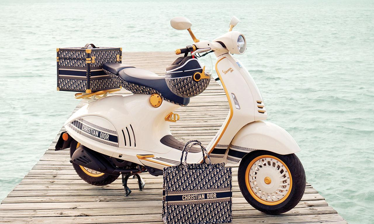 首次跨界合作,Dior x Vespa 打造限定 946 摩托车